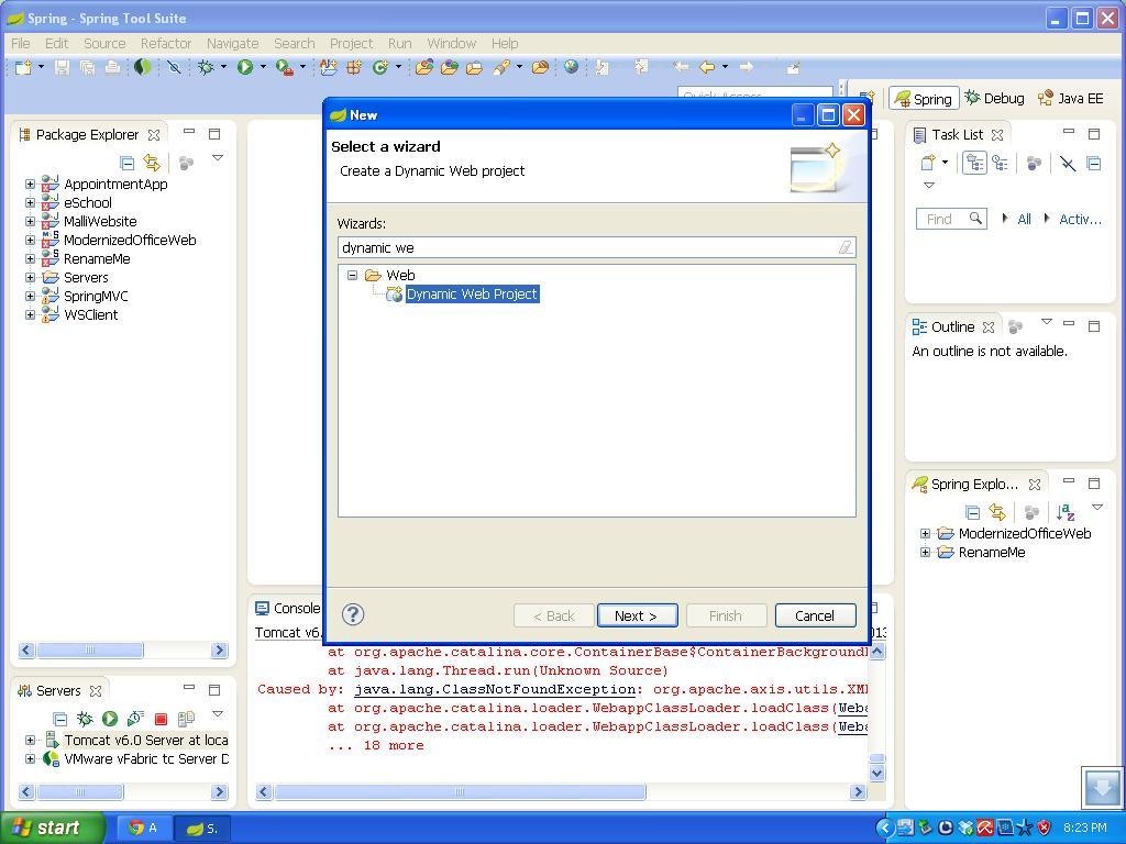 Create a dynamic web project using sts java tutorials dynamixwebproject baditri Choice Image