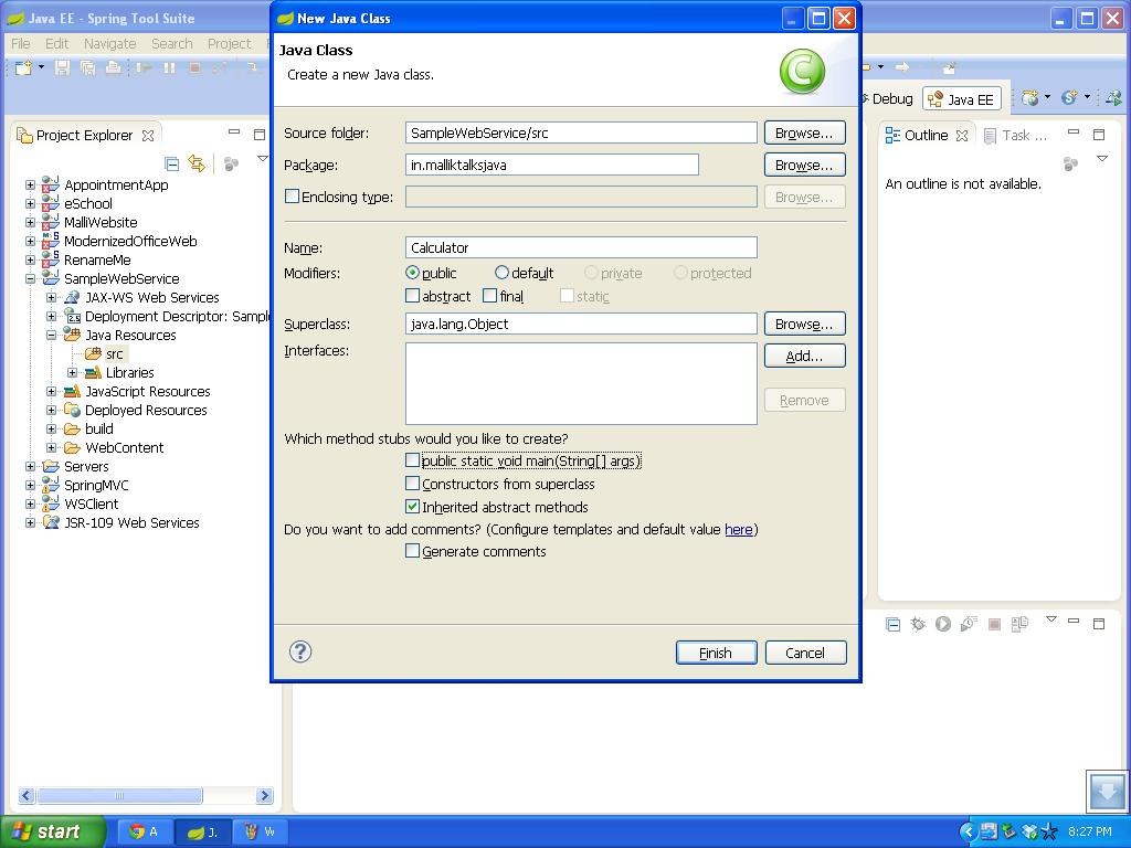 how to create wsdl file from web services c#
