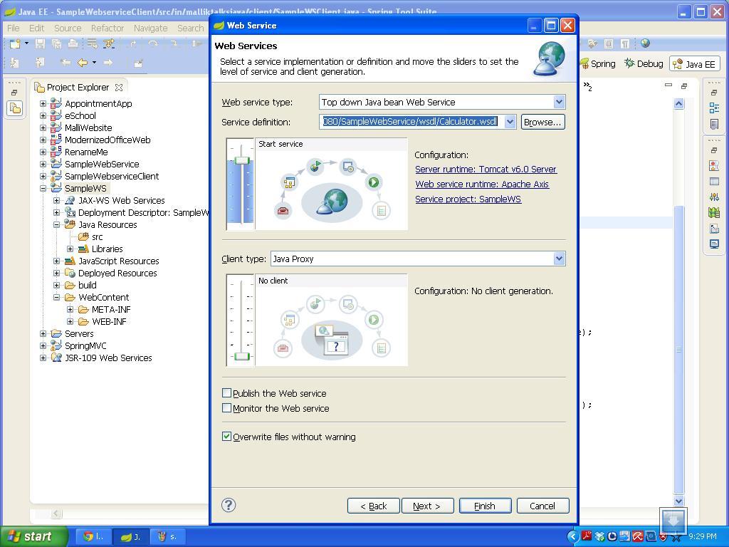 Create a Java web service using top down approch   Java Tutorials
