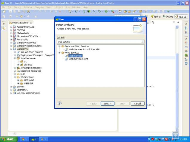 select webservice