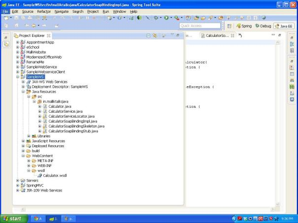 service Folder structure