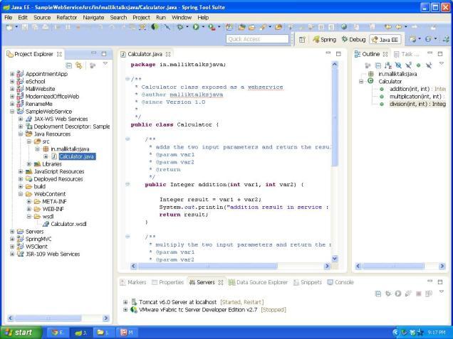 webservice folder structure